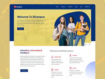 3iCampus website design and development devil website designer websites webpages ux website concept web website design ui art design landing page branding designing design