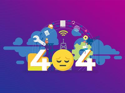 404 Error art design illustration designing networking error 404