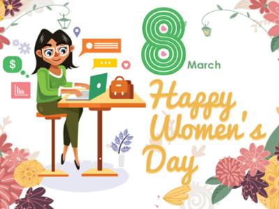Happy Women Day womenday illustration creative