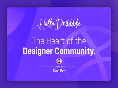 Thanks Dribbble dribbble ball dribbble best shot thanks ui ux vector art work art design illustration designing design