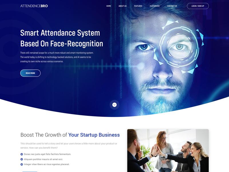 Attendancebro web typography landing page branding ui ux vector art design art work illustration designing design