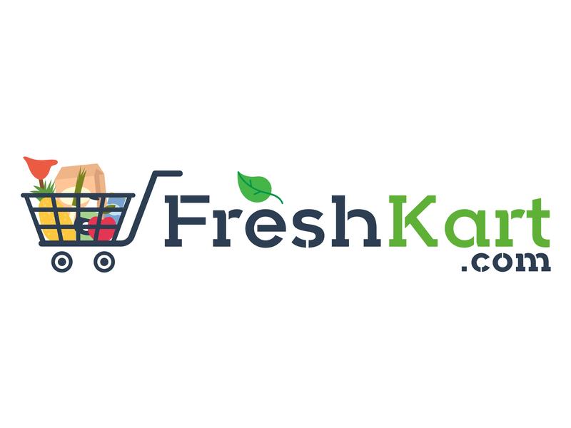 Freshkart typography logo design ux ui logo branding vector art design art work illustration designing design
