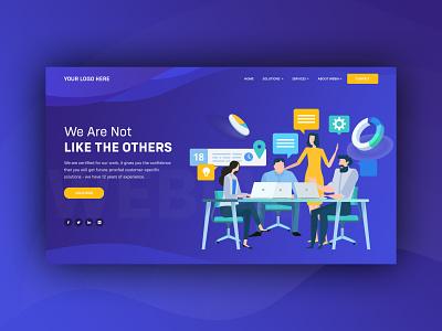 Landing page design web art design designing landing page ux ui vector illustration art work design