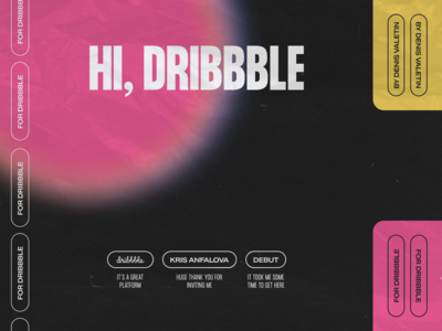 Hi, Dribbble. Thank you, Kris!
