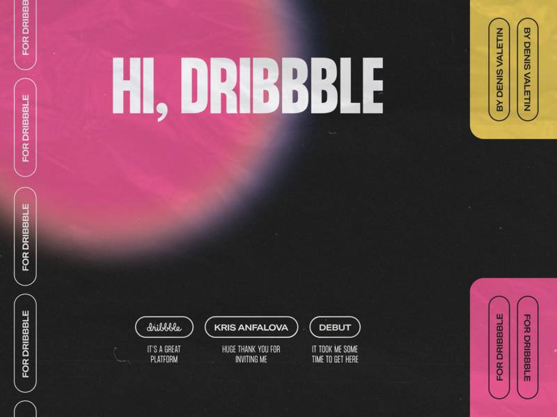 Hi, Dribbble. Thank you, Kris! typedesign debutshot debut invite design grain texture grain brutal brutalism raw poster art poster design typography design