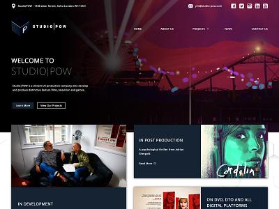 Studio | Pow platform digital development productions movies arts studio showcase ux webdevelopment landing page hero banner hero image webdesign ui mockup design