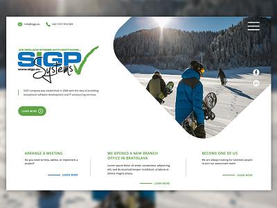 SIGP Systems c .net system systems uidesign website design showcase ecommerce userinterfacedesign userinterface ux hero banner webdevelopment hero image webdesign ui mockup design