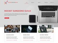 Mockup for Rocket Surgeons Guild