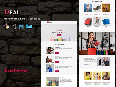 Deal - Responsive Email Template freelance sale fashion gifts ecommerce shop xmas mailchimp campaign responsive newsletter email template