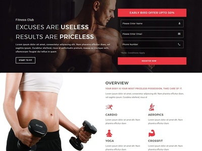 Fitness - Responsive HTML Template