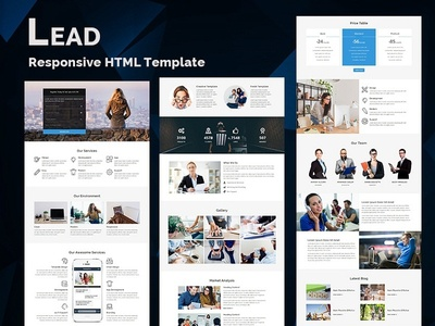 LEAD - Responsive HTML Template freelance hire marketing office business corporate lead responsive landing page website webdesign html