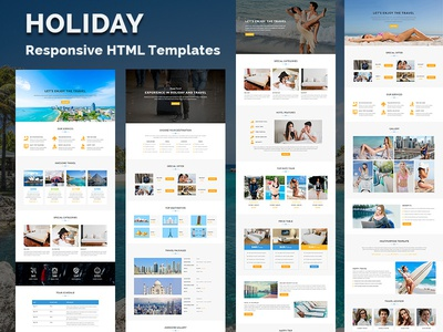 Holiday - Responsive HTML Landing Page trip travel guide travel agency tourism tour booking reservation hotel honeymoon holiday cruise beach accommodation