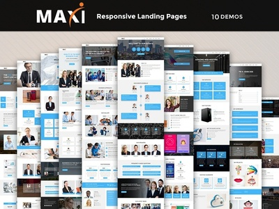 Maxi - Responsive HTML Template freelance startup lawfirm office business corporate lead hosting landing page events webdesign html