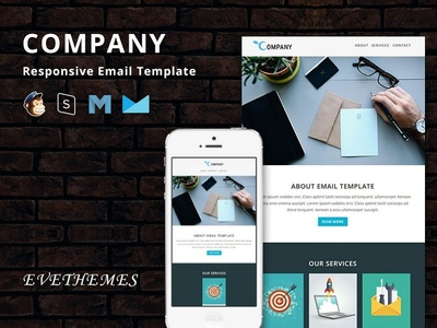 Company - Responsive Email Template freelance lead hire marketing office business corporate mailchimp campaign responsive newsletter email template