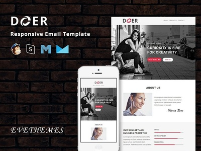 Doer - Responsive Email Template freelance lead hire marketing office business corporate mailchimp campaign responsive newsletter email template