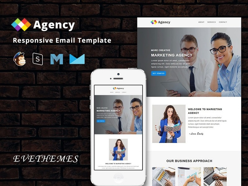 Agency  - Responsive Email Template email template newsletter responsive campaign mailchimp photography camp events training freelance