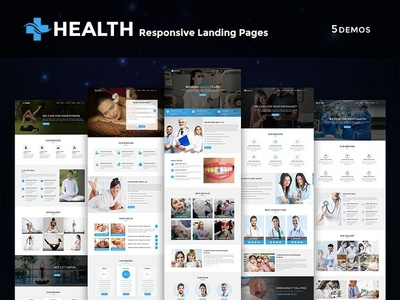 Health - Multipurpose Responsive HTML Landing Pages doctor webdesign freelance agency webinar fitness spa yoga pregnancy dentist clinic health medical