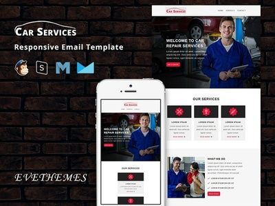 Car Services - Responsive Email Template repair service mechanic shop mechanic freelance consulting car service car rental car dealer automobile agency