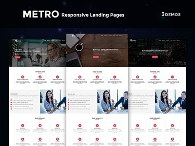 Metro - Multipurpose Responsive HTML Landing Pages freelance startup lawfirm office business corporate lead hosting landing page events webdesign html