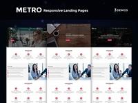 Metro - Multipurpose Responsive HTML Landing Pages