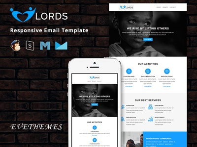 Lords - Responsive Email Template freelance lead community marketing event donatin ngo mailchimp campaign charity newsletter email template