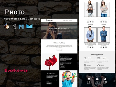 Photo - Responsive Email Template freelance training events camp photography mailchimp campaign responsive newsletter email template
