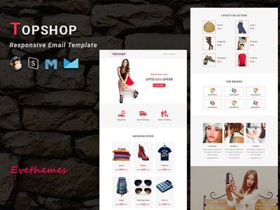 TOPSHOP - Responsive Email Template freelance sale fashion gifts ecommerce shop xmas mailchimp campaign responsive newsletter email template