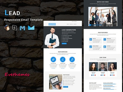 LEAD - Responsive Email Template freelance lead hire marketing office business corporate mailchimp campaign responsive newsletter email template