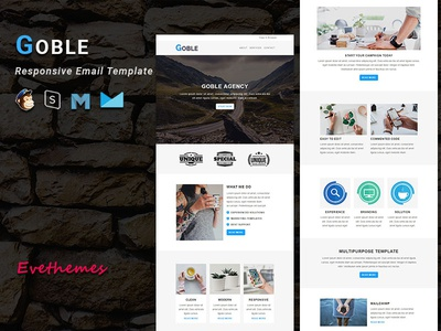 GOBLE - Responsive Email Template freelance lead marketing office business corporate mailchimp campaign responsive newsletter email template