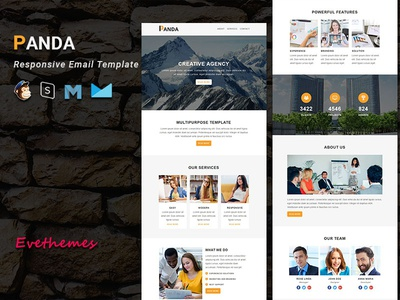 PANDA  - Responsive Email Template freelance lead marketing office business corporate mailchimp campaign responsive newsletter email template
