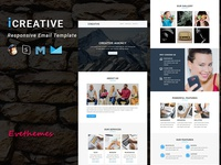 iCreative  - Responsive Email Template freelance lead marketing office business corporate mailchimp campaign responsive newsletter email template