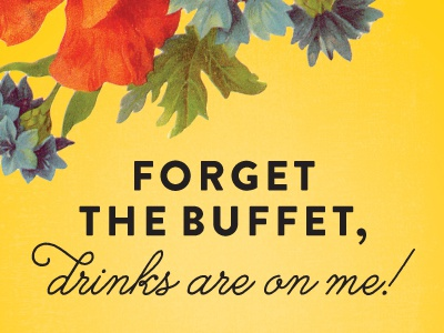 Forget the buffet dribbble