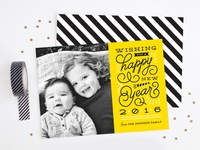 Swirls & Bursts - New Year's Card