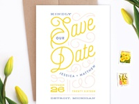 Billowy Delight Save the Date