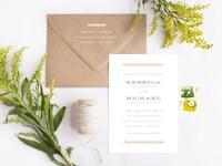Evergreen Invite and Envelope