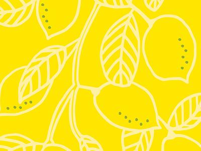 Lemon Pattern pattern yellow lemon drawing genna cowsert