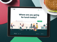 Na lunch app - landing page design