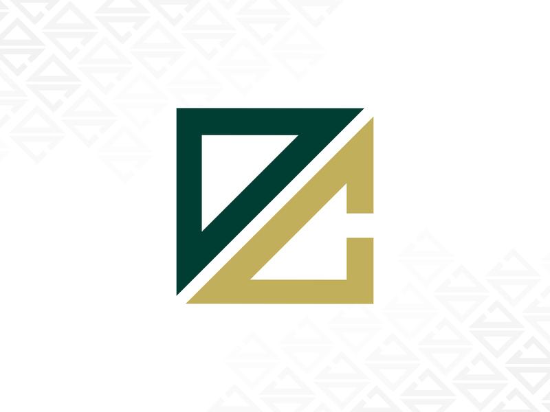 Development Club Logo affinity icon graphic clean vector developer student illustration affinity designer university minimal logodesign gold green branding club development