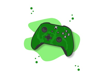 Xbox Controller clean gaming simple shade play flat affinitydesigner camouflage vector illustration controller xbox digital green camo designer affinity