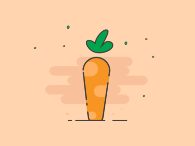 Simple Carrot design icon leaf leafy green clean affinitydesigner vector illustration minimal minimalist orange carrot