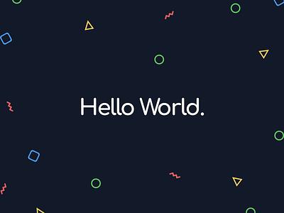 Hello World theme light dark branding illustration graphic design identity shapes helpful playful modern clean brand