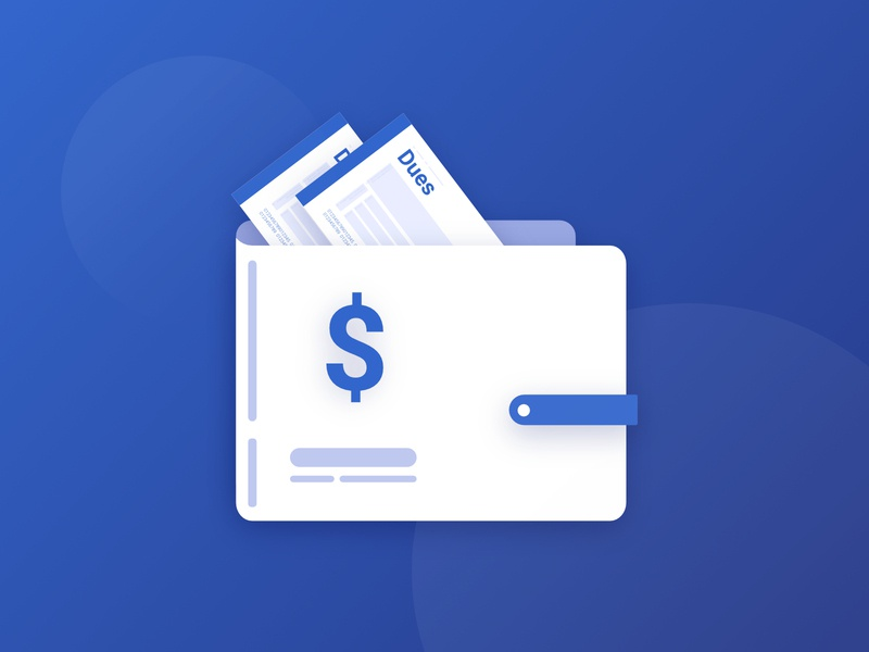 Account Wallet money wallet cash dues payment icon graphic affinitydesigner affinity illustration branding clean ui clean minimal minimalistic stubs