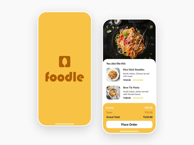 Foodle - Food Delivery Mobile App android app mockup template creative app design app android app development uidesign designer design android ios ui application design uiux web development company mobile app development company