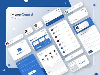 Money Control - Mobile Banking App ui mobile app development company uiux bankingapp mobile banking banking app banking