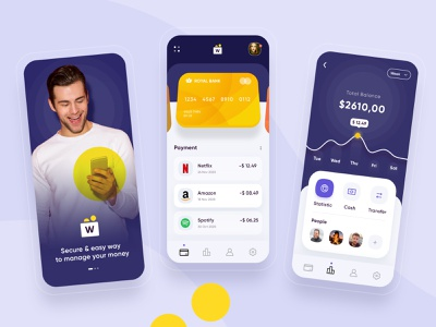 Wallet App ios android design application design mobile app development company uiux banking app banking bank app account app mobile app wallet app walletapp wallet ui wallet
