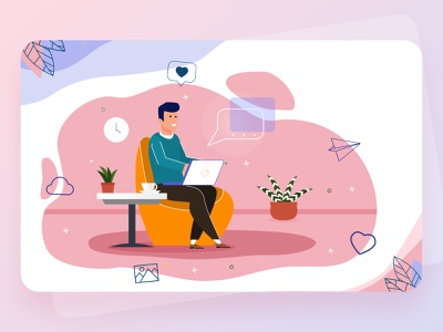 Work From Home (WFH) Illustration illustrator illustraion illustration design illustration art illustrations graphics illustration workout work out work space work desk workspace home work wfh work from home