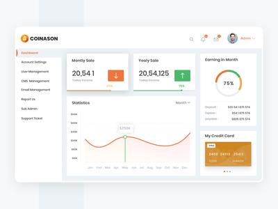 Coinason - Dashboard UI Design Template