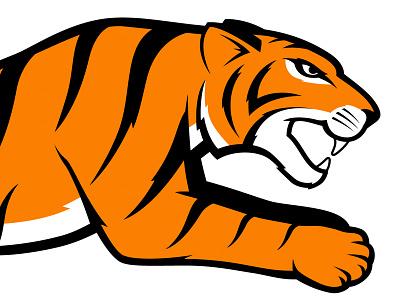 Tiger illustration tiger orange black logo
