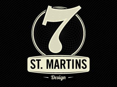 7 Saint Martins Design logo illustrator design 7 st. martins design