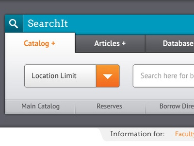 Library Search website search ui
